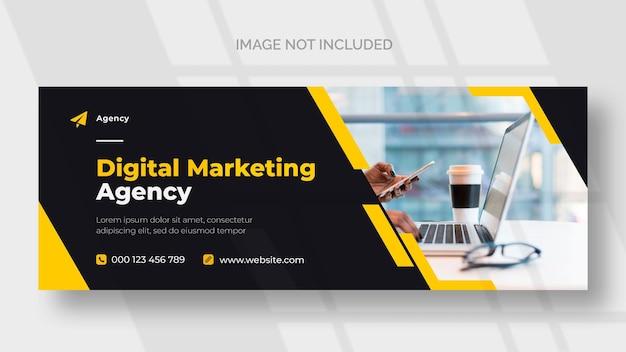 Modelo de banner do facebook de marketing digital