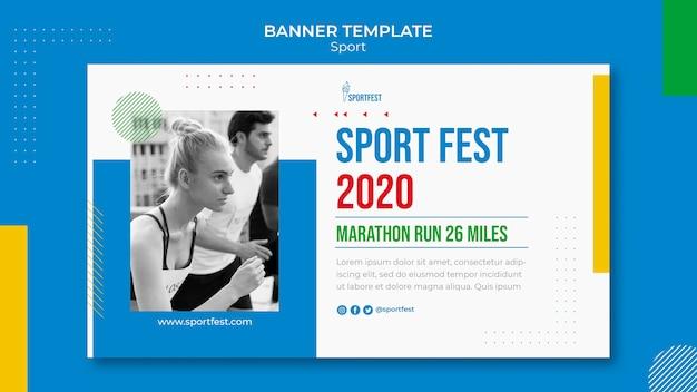 Modelo de banner do festival de esporte