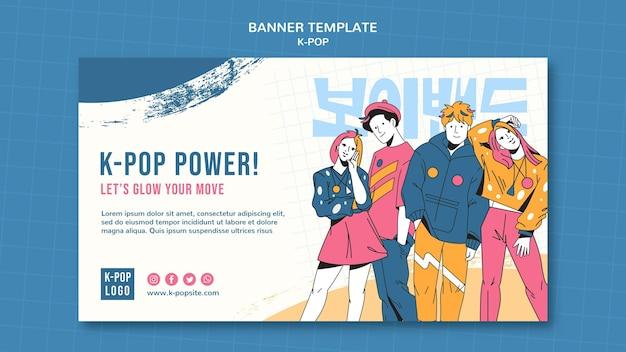 Modelo de banner do festival k-pop