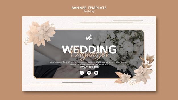 Modelo de banner do organizador de casamento