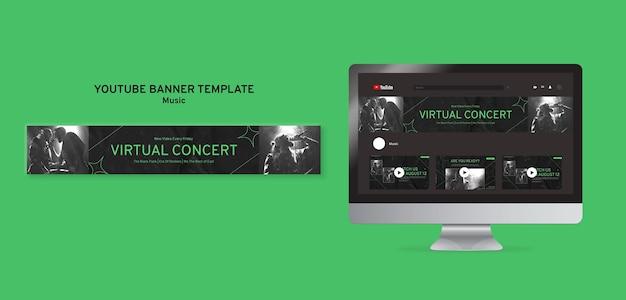 Modelo de banner do youtube para concerto virtual