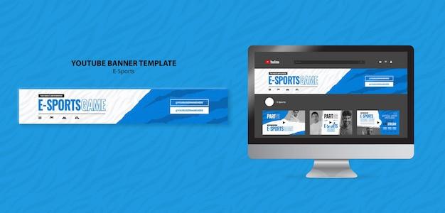 Modelo de banner do youtube para e-sports