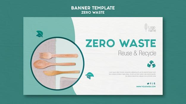 Modelo de banner do zero waster