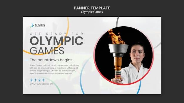 Modelo de banner dos jogos olímpicos
