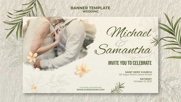 Modelo de banner elegante para casamento