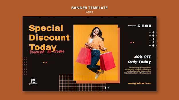 Modelo de banner especial de vendas
