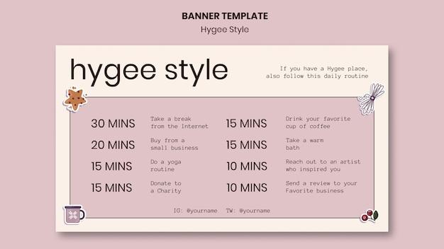 Modelo de banner estilo hygge