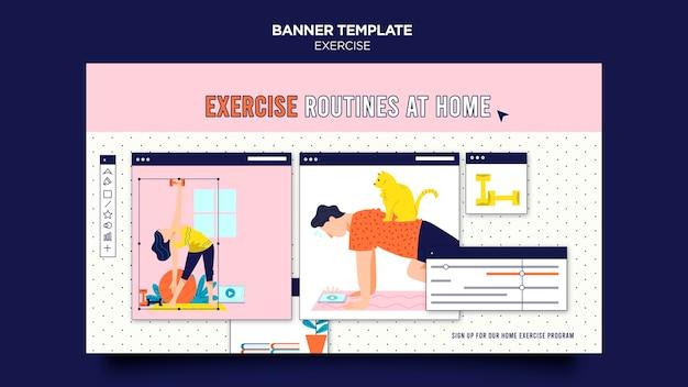 Modelo de banner exercício em casa