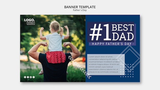 Modelo de banner feliz dia dos pais