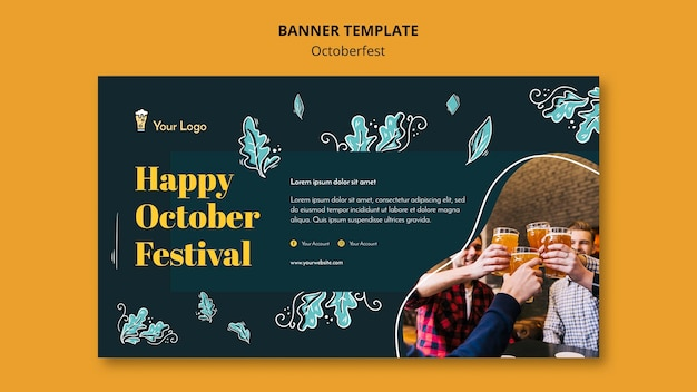 Modelo de banner festival oktoberfest