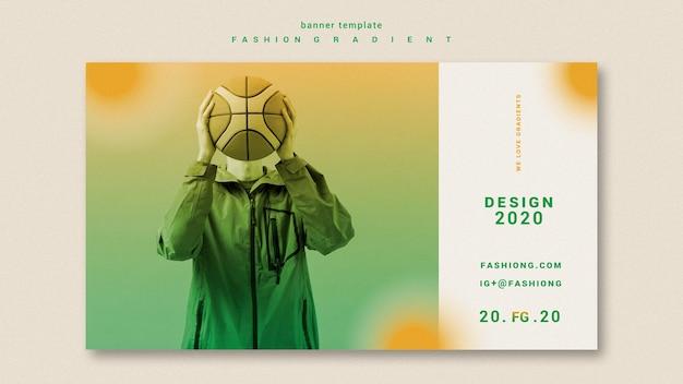 Modelo de banner gradiente de moda