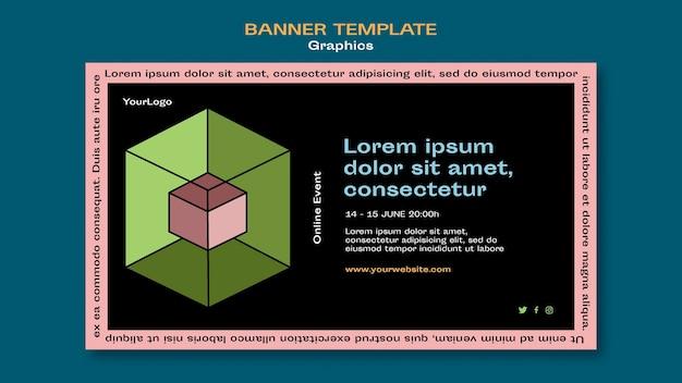 Modelo de banner gráfico