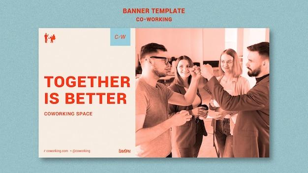 Modelo de banner horizontal colaborativo