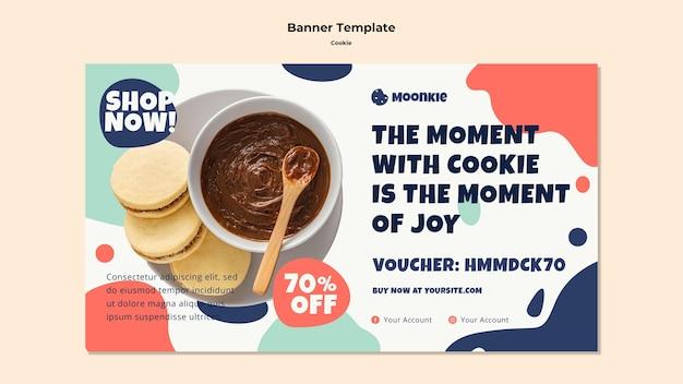 Modelo de banner horizontal com cookies
