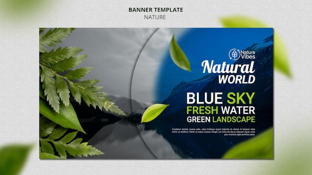 Modelo de banner horizontal da natureza