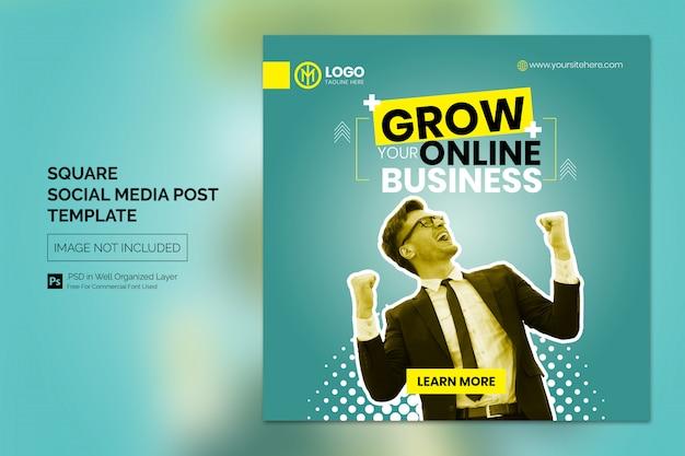 Modelo de banner horizontal da web para publicidade comercial online