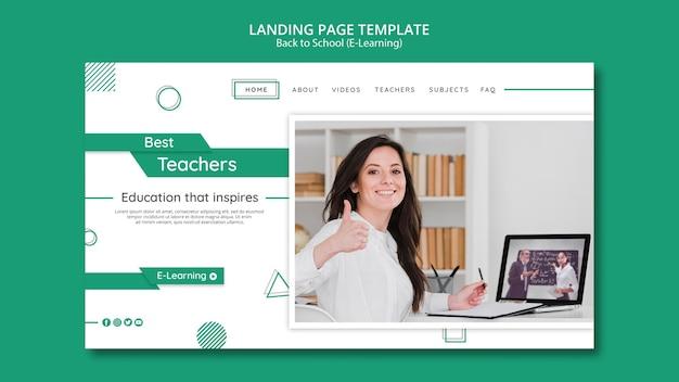 Modelo de banner horizontal de e-learning criativo