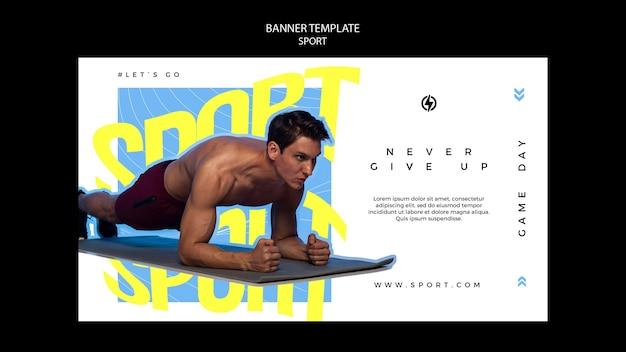 Modelo de banner horizontal de esportes