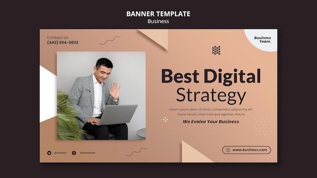 Modelo de banner horizontal de negócios