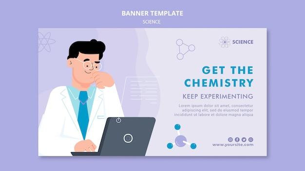 Modelo de banner horizontal de química