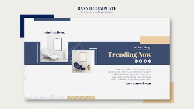 Modelo de banner horizontal para design de interiores