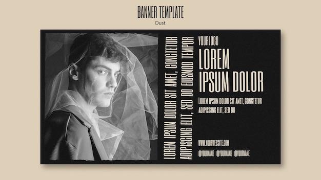 Modelo de banner horizontal para nova coleção de moda
