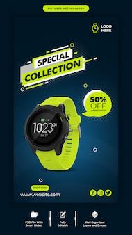 Modelo de banner instagram de venda de relógio inteligente