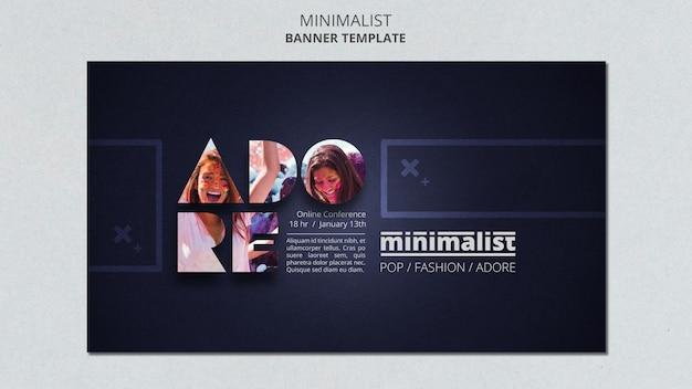 Modelo de banner minimalista criativo