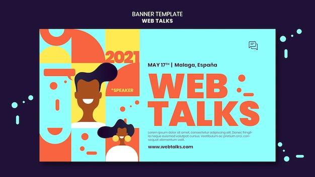 Modelo de banner moderno de palestras na web