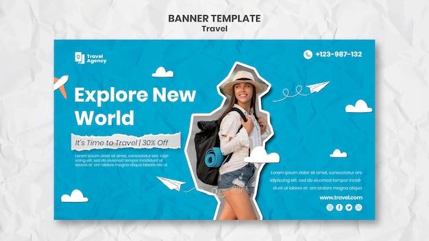 Modelo de banner móvel com foto