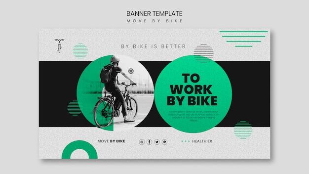 Modelo de banner mover de bicicleta