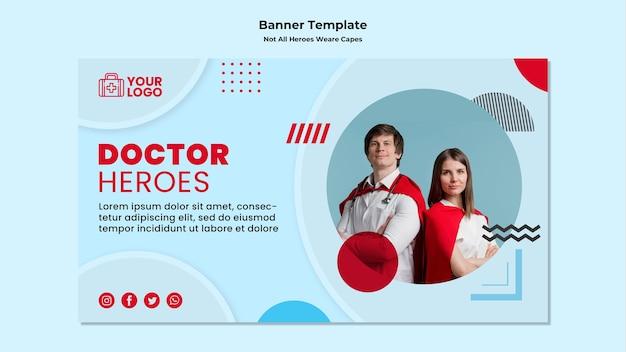 Modelo de banner nem todos os heróis usam capas