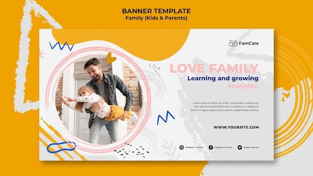 Modelo de banner para a família