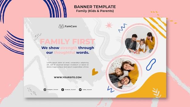 Modelo de banner para a família Psd grátis