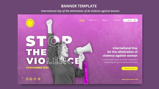 Modelo de banner para acabar com a violência contra mulheres