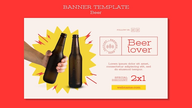 Modelo de banner para amantes de cerveja