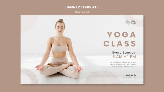 Modelo de banner para aula prática de ioga