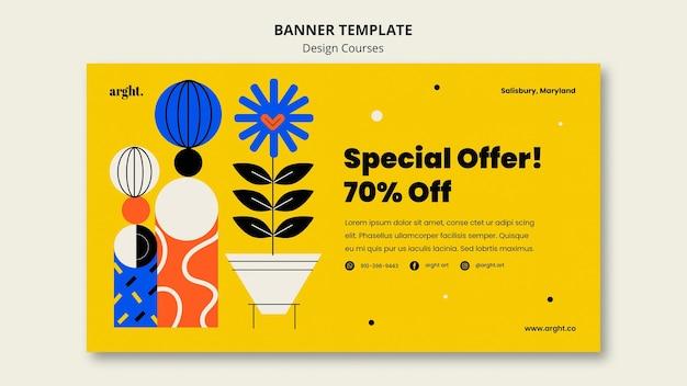 Modelo de banner para aulas de design gráfico