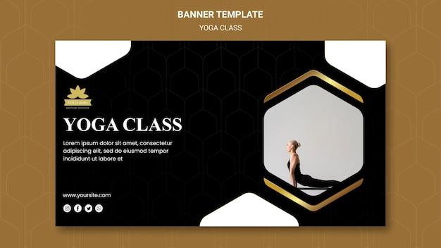Modelo de banner para aulas de ioga