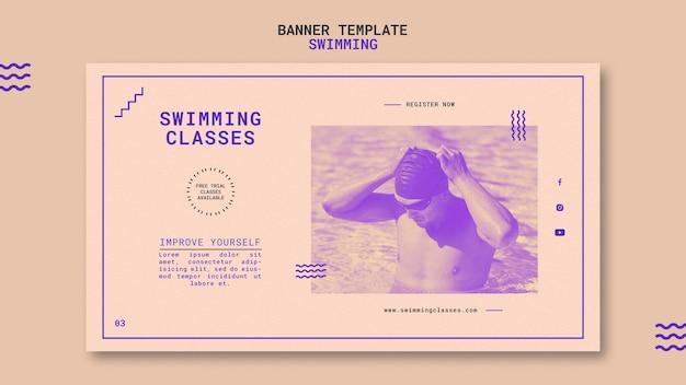 Modelo de banner para aulas de natação