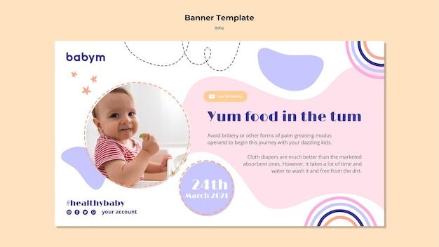 Modelo de banner para bebê recém-nascido