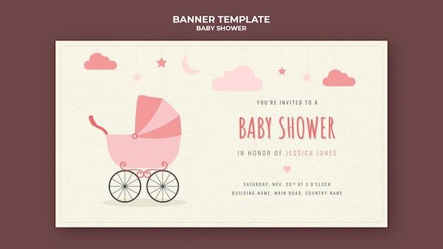 Modelo de banner para chá de bebê