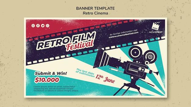Modelo de banner para cinema retrô