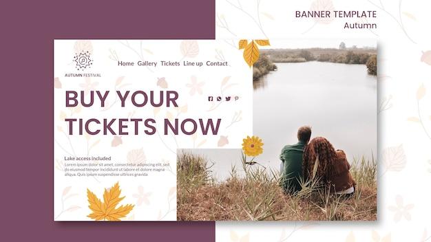 Modelo de banner para concerto de outono