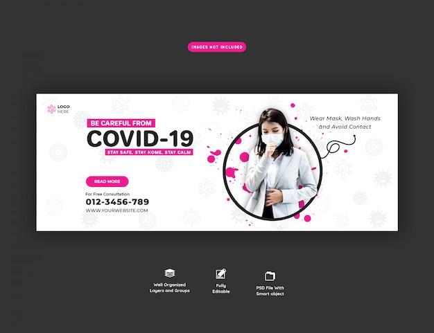 Modelo de banner para coronavírus ou covid-19