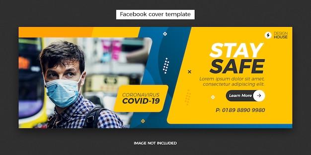 Modelo de banner para coronavírus Psd Premium
