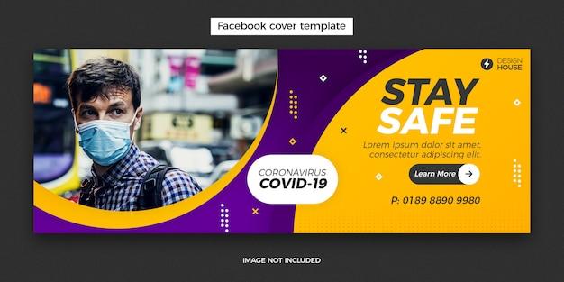 Modelo de banner para coronavírus