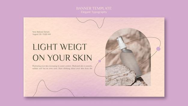 Modelo de banner para cuidados com a pele