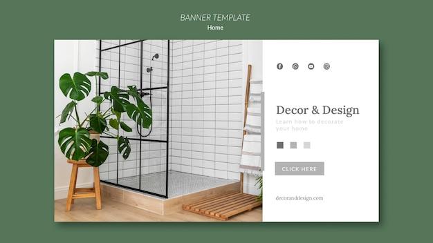 Modelo de banner para decoração e design de casa