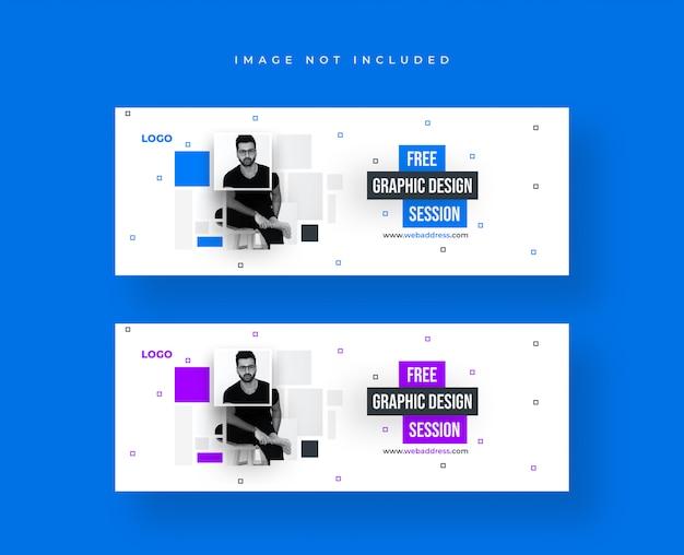 Modelo de banner para design gráfico para publicação em mídia social